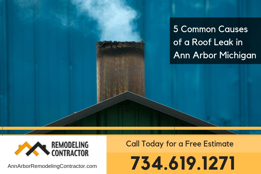 5 Common Causes of a Roof Leak in Ann Arbor Michigan