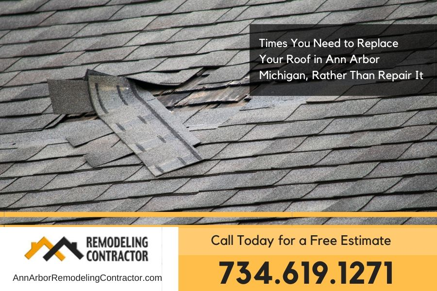 Times You Need to Replace Your Roof in Ann Arbor Michigan, Rather Than Repair It